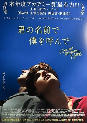 Call Me by Your Name 2017 Luca Guadagnino Japan Chirashi Mini Movie Poster