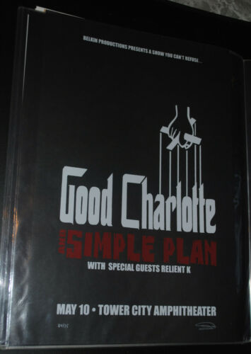 Good Charlotte Cleveland 2005 concert poster #/75 art print Simple Plan
