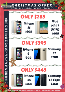 UNLOCKED iPhone / Samsung Galaxy S Mobile-Xmas SALE! PreOwned AUS