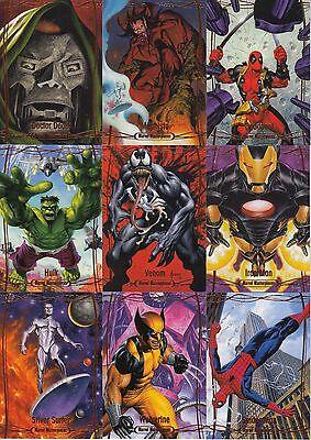 2016 Marvel Masterpieces - ORANGE #1-90 LOW SERIAL # 90-Card Parallel Set RARE!