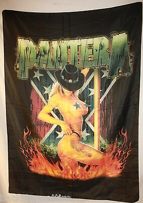 PANTERA Girl South Dimebag Darrell Textile Fabric Cloth Poster Flag Banner New