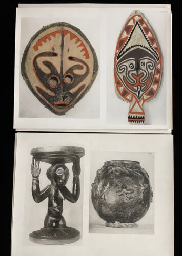 THE SAVAGE ARTS OF AFRICA AND THE SOUTH SEA ISLANDS 20 PHOTO PLATES FOLDER