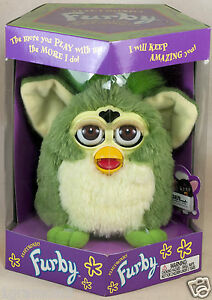 Original-HTF-Green-Furby-1998-Tiger-Electronics-Model-70-800-New-In-Box-Sealed