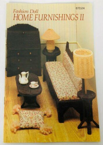 Vtg Annies Attic Fashion Doll Home Furnishings II Plastic Canvas Patterns 87D24