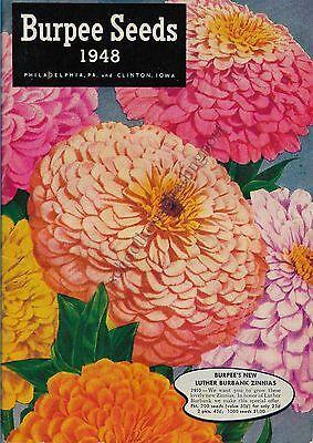 Illustrated Seed Catalog Burpee Seeds Philadelphia Pennsylvania 1948