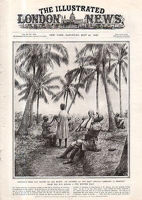 1917 London News July 21   Bsa Bicycle  U S  Troops Land In France  Palestine