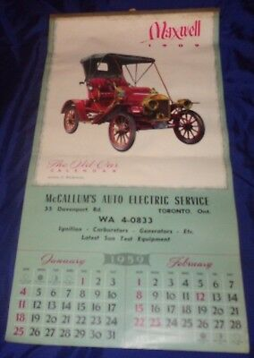 BS585 Vtg 1959 Calendar McCallums Auto Electric Service Toronto ON Complete