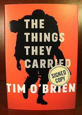 The Things They Carried Tim O'Brien SIGNED DJ 2017 Classic Short Stories