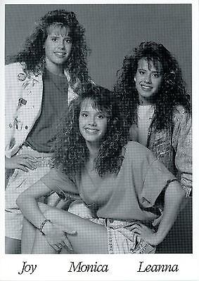 "Rare Vintage Disney ""The Creel Triplets"" Joy Monica & Leanna Fan Postcard 5 x 7"