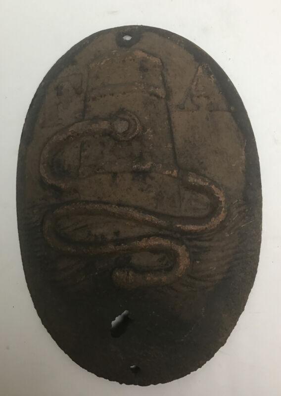 Antique ORIGINAL 1800s F A Fire Mark Association of Philadelphia Insurance