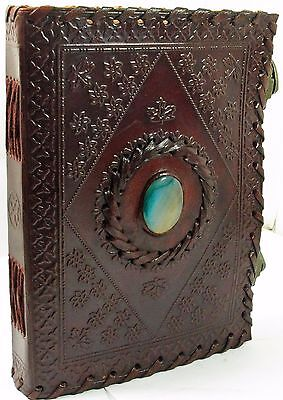 Antique Leather Journals - LARGE Antique Leather Journal with locks-Guest book/Instagram Photo Book -10