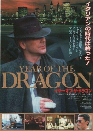 Year of the Dragon 1985 Michael Cimino Japanese Chirashi Flyer Movie Poster B5
