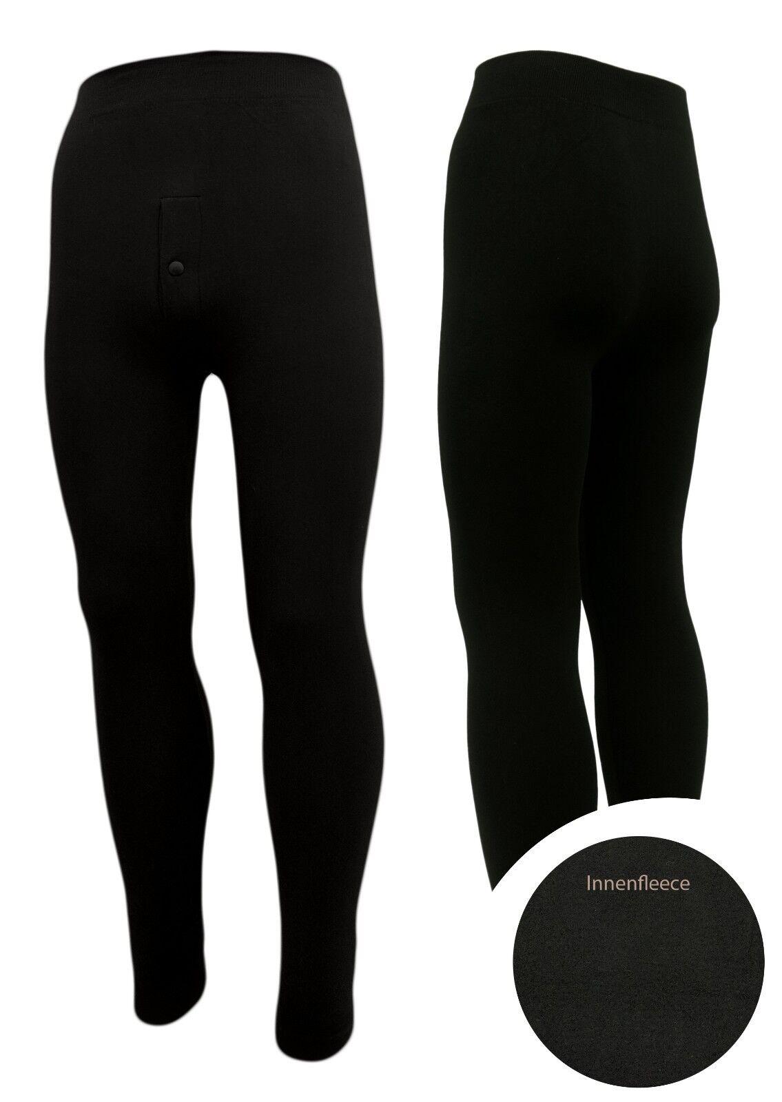 Lange Thermo-Unterhose anliegend Männer Winter-Leggings  2er Set - 85% Baumwolle