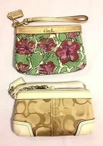Two Mint Condition Coach Wristlets