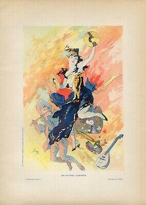 Jules Cheret LA MUSIQUE Vintage French Lithograph, Affiches Illustrees, 1896