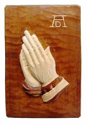 22 x 15 cm New Praying Hands Albrecht Dürer Wood Hand-Carved Dark Linde