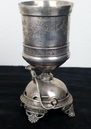 Derby Silver Quadruple Plate Desk Style Bell Doubling As A TableSetting Spooner