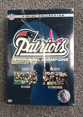 New England Patriots super bowl 2 dvds of first two super bowls tha patriots won