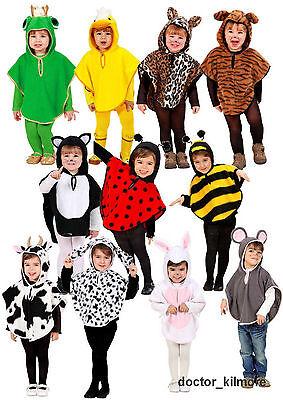 Toddler Animal Costume (Child Toddler Animal Fancy Dress Costume Poncho Age 1 2 3 4 5 6 Dog Tiger)