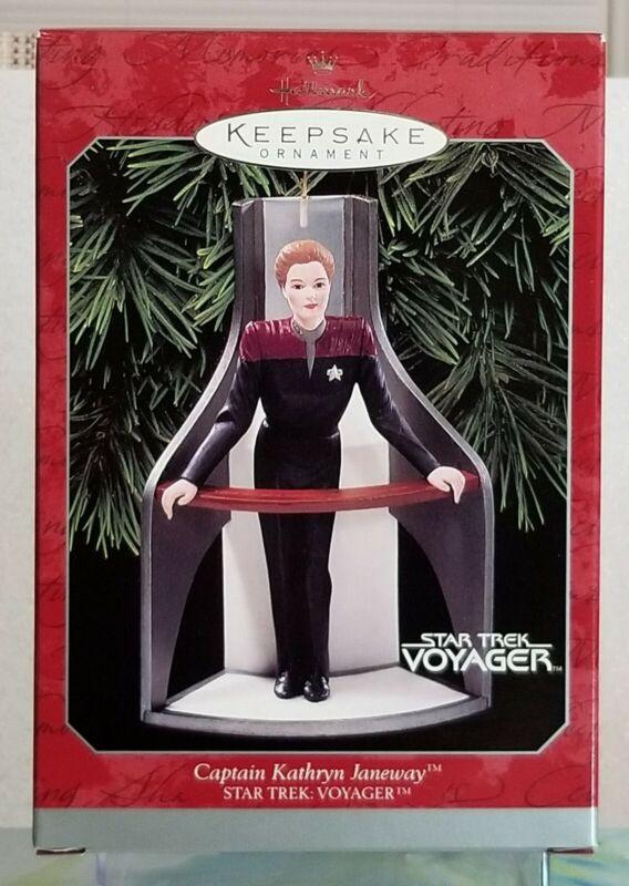 Hallmark Ornament Star Trek Voyager CAPTAIN KATHRYN JANEWAY 1998 NEW UNOPENED !!