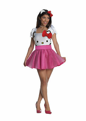 Hello Kitty Pink Adult Womens Costume 889962 sizes xs and small](Hello Kitty Costume Women)