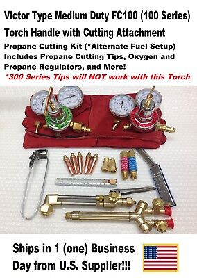 Victor Type 100fc Cutting Torch W Cut Attachmentregulators-propane Kit