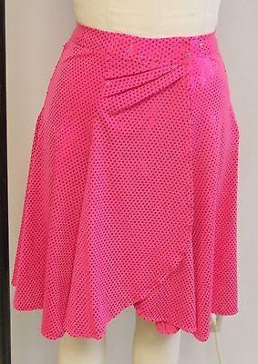 HOT PINK SPOTLIGHT SEQUIN ON PINK LYCRA DANCE COSTUME SKIRT-Size MEDIUM #1](Spotlight Dress Up Costumes)