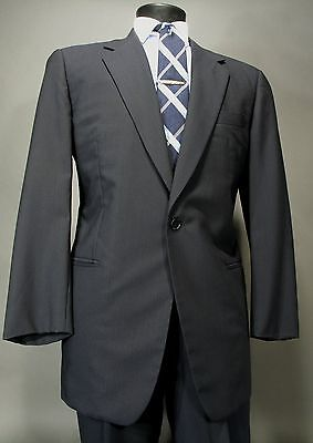 Used,  VESTIMENTA Navy Suit 1 Button, Wool, Full Canvas 52 Eu 42R US  By Armani  for sale  Waterbury