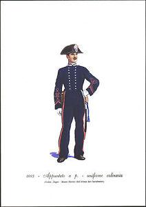 STAMPA-UNIFORMI-STORICHE-CARABINIERE-APPUNTATO-A-PIEDI-UNIFORME-ORDINARIA-1883
