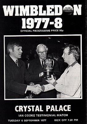 1977/78 Wimbledon v Crystal Palace, Cooke Testimonial, FIRST SEASON, PERFECT