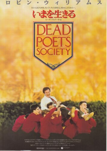DEAD POETS SOCIETY:Robin Williams - Original Japanese Mini Poster Chirash