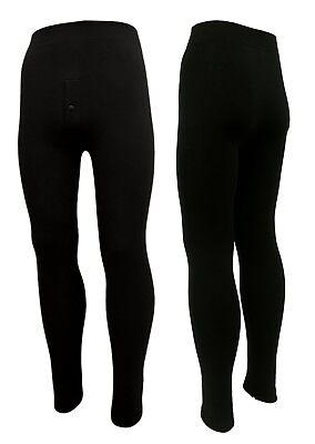 Schwere Thermo-unterwäsche (2x Lange Thermo- Ski- Leggings für Männer mit Innenfrottee schwere Qualität S-L)