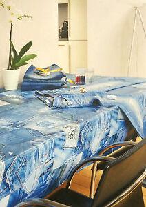 wachstuch tischdecke eckig rund oval abwaschbar jeans optik stoffe k150023 ebay. Black Bedroom Furniture Sets. Home Design Ideas