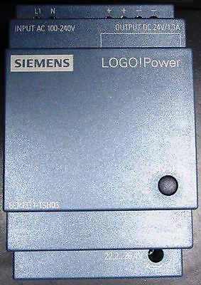 SIEMENS LOGO POWER SUPLY Input 100-240V Output DC24V/1,3A  6EP1331-1SH03