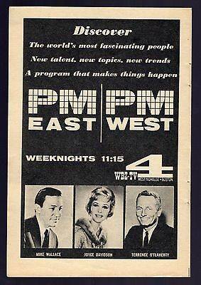 1961 Wbz Tv Ad Pm East Pm West Joyce Davidson Terrence Oflaherty Mike Wallace