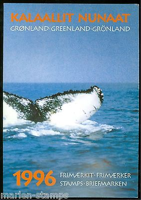 GREENLAND 1996 YEAR BOOK COMPLETE MINT NH FACE VALUE OF THE STAMPS IS 112.25  KR