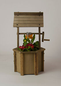 Wooden Wishing Well Planter - Rustic Garden Gift - 40cm - Free Postage