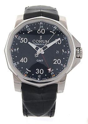 Corum Admirals Cup GMT W/Box+Papers 383.330.20.OF81 Alligator Strap