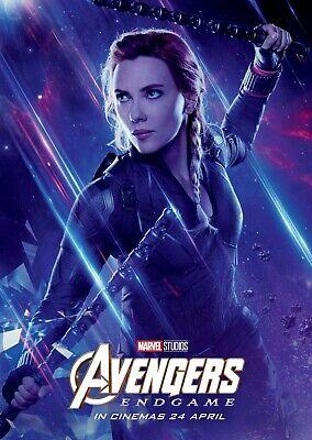 Avengers Endgame movie poster  - 11 x 17 - Black Widow (b) Scarlett Johansson