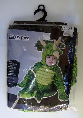 T DINOSAURIER TRICERATOPS / GR. 68 - 80 / 6 - 12 MONATE - OVP (Dinosaurier-kostüm Baby)