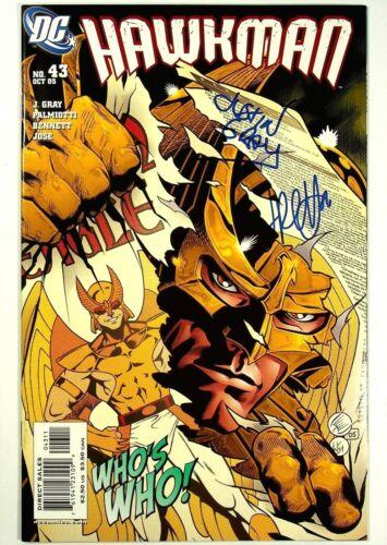 Hawkman #43 Signed x2 Jimmy Palmiotti Justin Gray DC Comics