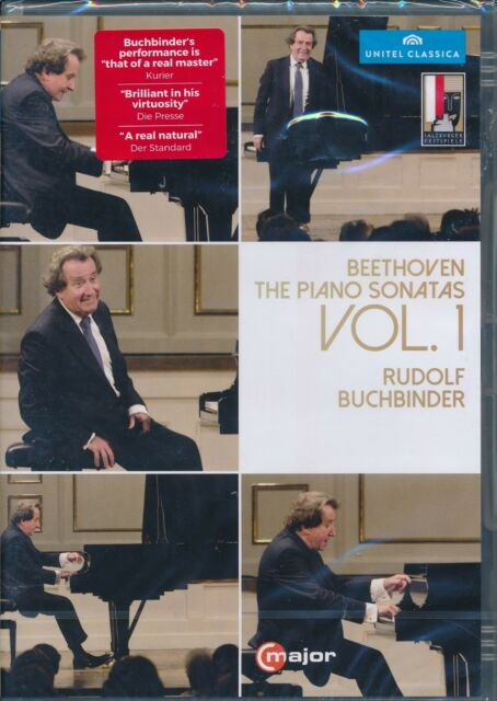 Beethoven Piano Sonatas VOl 1 DVD NEW Dudolf Buchbinder