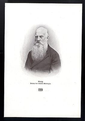 """Georg II. Herzog von Sachsen- Meiningen """"Theaterherzog"""" Histor. Kunstdruck 1906"""