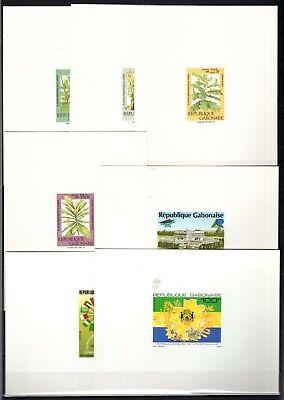 DJ146509/ GABON - PROOFS / YEARS 1988 - 1991 MINT MNH MODERN LOT