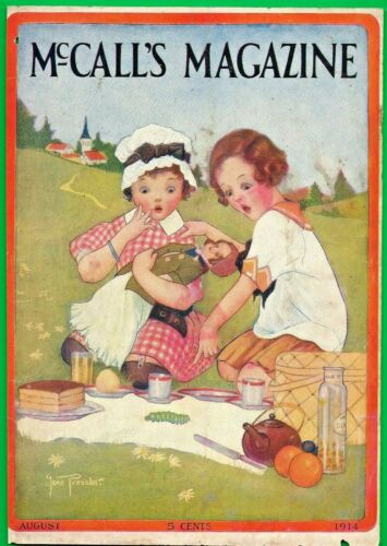 1914 GENE PRESSLER MAGAZINE COVER ART or CREAM OF WHEAT AD WITH RASTUS