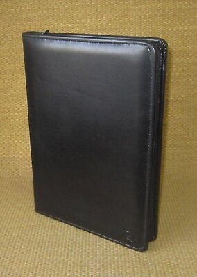 Monarch Size Black Sim Leather Franklin Coveyquest Padfolio Notepad Zip Cover