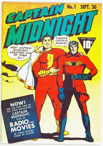 Flashback #37 Captain Midnight #1 (DynaPubs) Golden Age Comic Reprints