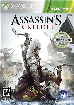 XBOX 360 GAME ASSASSIN'S CREED III 3 BRAND NEW & FACTORY SEALED for sale  Shipping to India