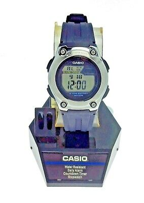 NEW Sport Ladies Casio Digital Watch W211 Blue Resin 10 Year Battery 50M Water -