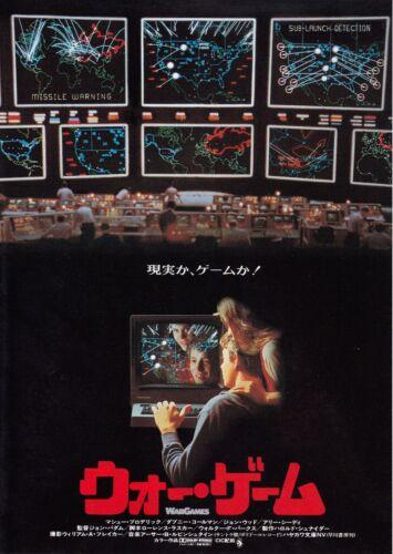 WARGAMES- Original Japanese  Mini Poster Chirash